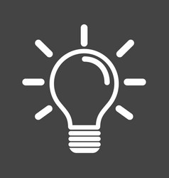 light bulb icon in grey background idea flat vector image