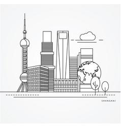 linear shanghai china vector image
