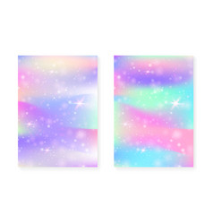 Magic background with princess rainbow gradient vector