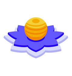meditation lantern icon isometric style vector image