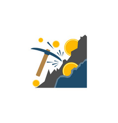 mining concept flat icon vector image