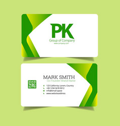 modern colorful business card vector image
