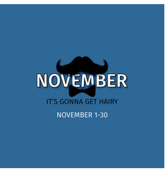 Moustaches blog post template for november vector