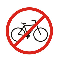 No bike allowed sign in white background vector