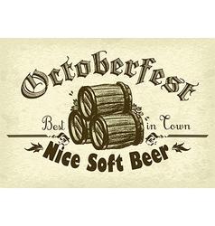 Octoberfest background rgb vector