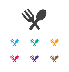 Of holiday symbol on spoon vector