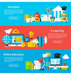 Online Education and Electronic Learning Flat vector image