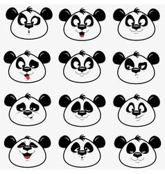Panda smile vector