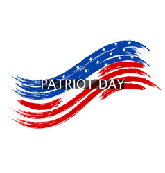 Patriot day wave in colors of the national flag on vector