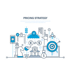 Pricing strategy time management marketing vector