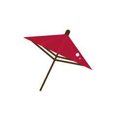 red open umbrella culture traditional japan icon vector image