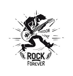 rock forever freedom and love vector image