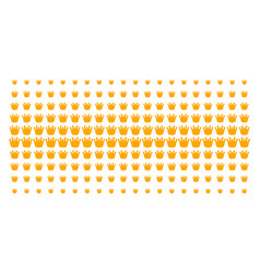 royal shape halftone array vector image
