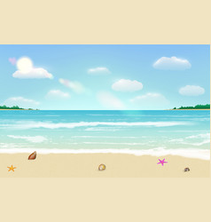 sea sand beach summer tropical background vector image