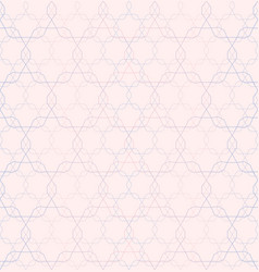 Seamless pattern repeating geometric ornament vector
