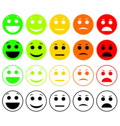 set of emoticons emoji level rank load vector image