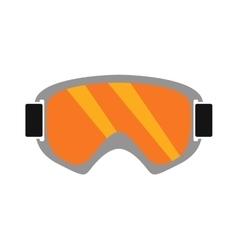 Snowboarding sport glasses design protection vector