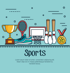 Sports related design vector