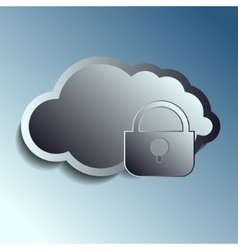 steel 3d clouds Securety vector image