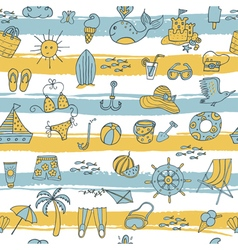 summer pattern with strieps vector image