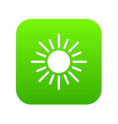 sun icon digital green vector image