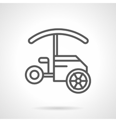 Tricycle food cart black line icon vector image