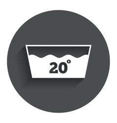 Wash icon Machine washable at 20 degrees symbol vector