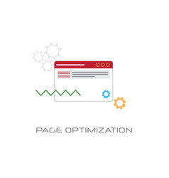 web page optimization content management concept vector image