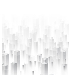 white perspective 3d geometric background vector image