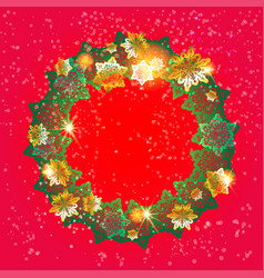 winter festive wreath vector image