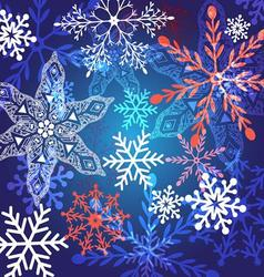 winter graphic background with different snow vector image