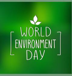 World environment day poster vector