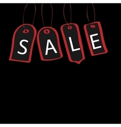 Black Friday tag with the inscription sale vector image