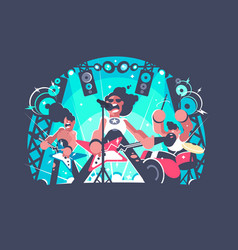 concert of rock band vector image