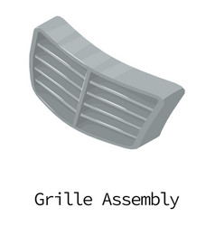 grille car icon isometric 3d style vector image vector image