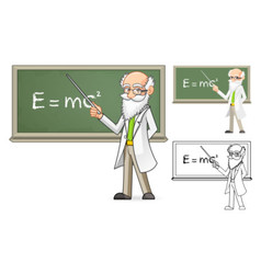 Scientist Holding a Pointer Stick vector image vector image