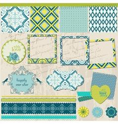 Scrapbook Design Elements - Vintage Tile with fram vector image vector image