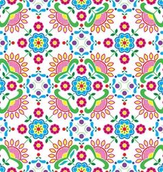 Seamless Norwegian traditional folk art pattern vector image