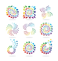 Set of abstract icon vector image vector image