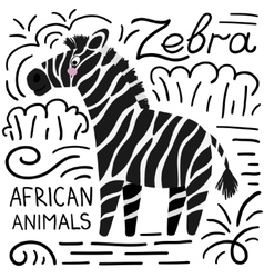 Zebra african animals background vector image vector image