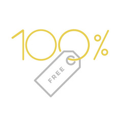 One hundred percent free label vector