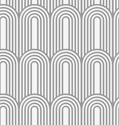 Perforated paper with arks on continues stripes vector image