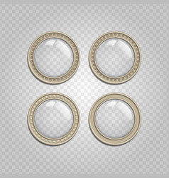 transparent glass buttons vector image vector image