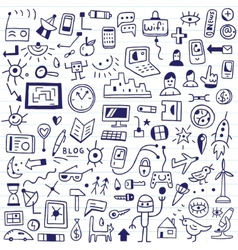 web devices - doodles set vector image vector image