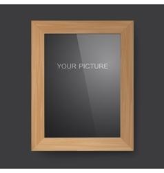 Wooden rectangular frame vector image