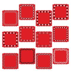 Bandana square labels vector