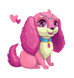 little cute dog with long ears vector image vector image