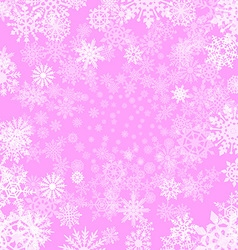 pink background with snowflakes vector image