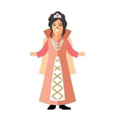 Princess Flat style colorful Cartoon vector image vector image