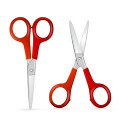 Red Scissors Set vector image vector image